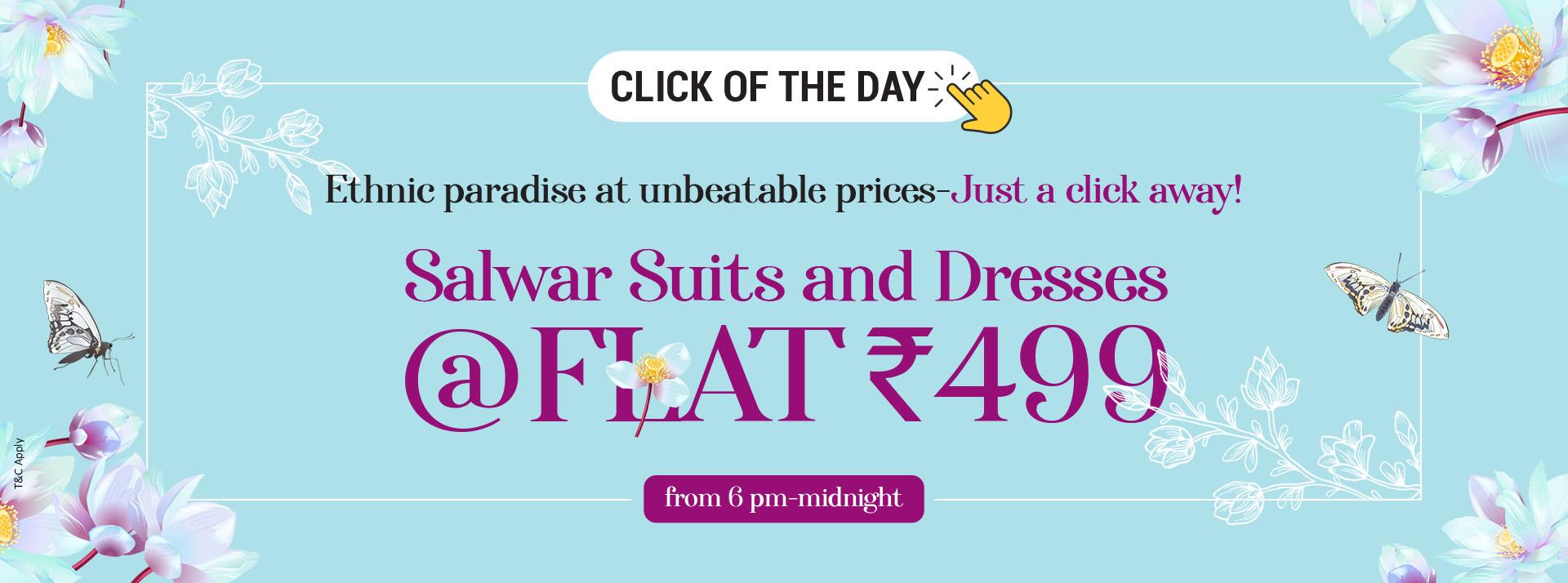 Salwar Suits & Dresses Flat 499