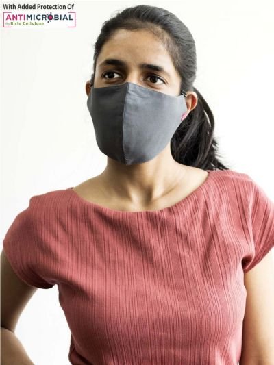 Protective Solid Grey Face Mask