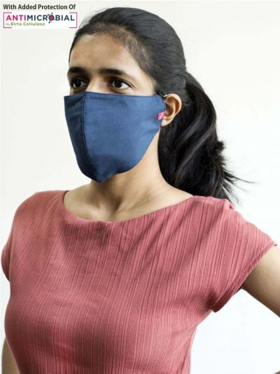 Protective Solid Navy Face Mask